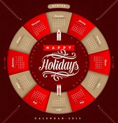 Christmas Calendar 2015 vector