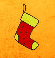 Christmas stocking cartoon vector