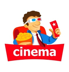Cinema man logo vector