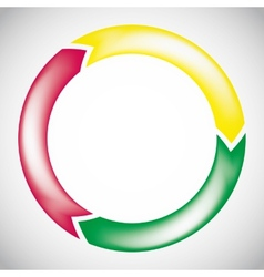colorful circular arrow chart vector image