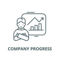 company progress line icon linear concept vector image