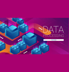 concept big data processing energy station of vector image