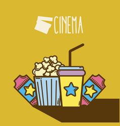 cute cinema cartoons concept cinema cartoon vector image