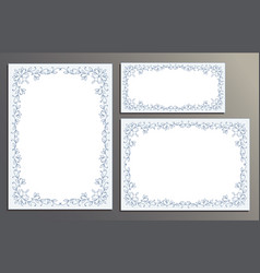 decorative frames for certificate template floral vector image