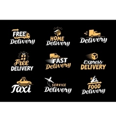 Delivery logo Shipping icons set vector image