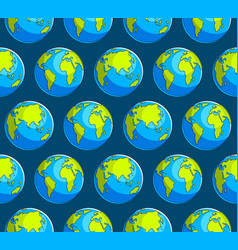 earth planet seamless background backdrop for vector image