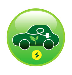 electric car or electric vehicle with green energy vector image