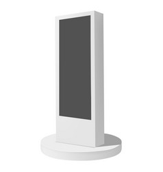 Electronic display mockup realistic style vector