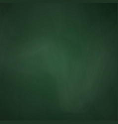 Empty blackboard dark green color chalkboard vector