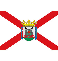 Flag of vitoria-gasteiz in basque country in spain vector