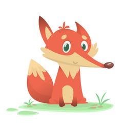 Funny cartoon fox character vector