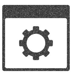 Gear Options Calendar Page Grainy Texture Icon vector