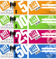 Gift Vouchers Set vector