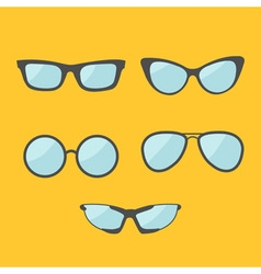 Glasses set eyeglasses collection isolated icons vector