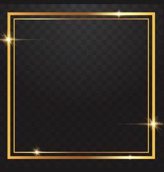 gold frames light in transparent background vector image