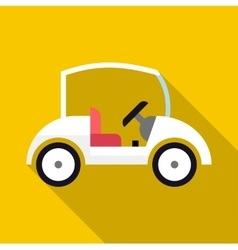 Golf car icon flat style vector image