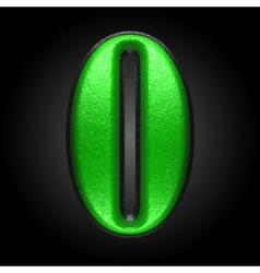green plastic figure o vector image