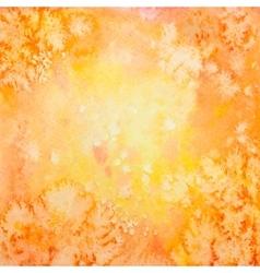 Hand drawn orange watercolor background vector