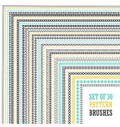 Hand Drawn Pattern Brushes Set vector