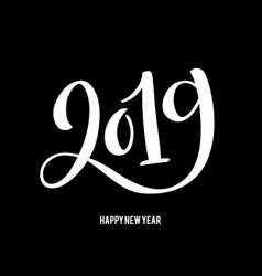 happy new 2019 year with vector image