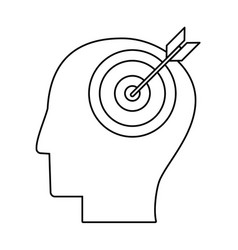 Head human target outline vector