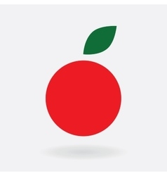 icon simple apple red symbol stylization vector image