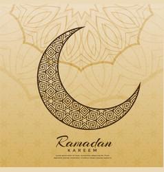 Islamic moon design for ramadan kareem season vector