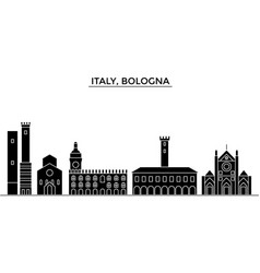 italy bologna architecture city skyline vector image