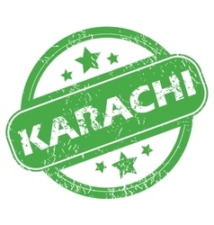 Karachi green stamp vector