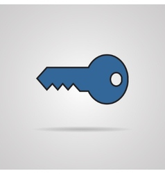 Key icon with shadow vector image