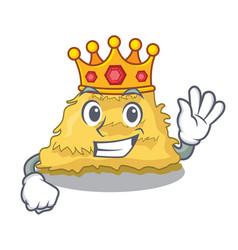 King hay bale mascot cartoon vector