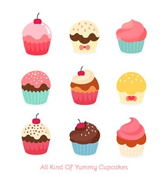 Lovely Cupcake Icon Set vector