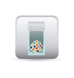 Medicine jar inside frame design vector image