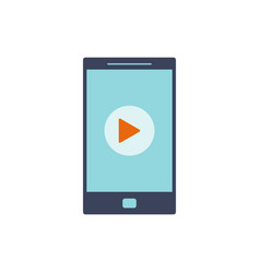 mobile video icon vector image