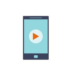 Mobile video icon vector