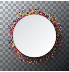 modern festive poster Confetti on vector image