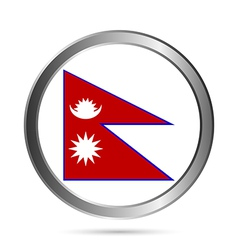 Nepal flag button vector