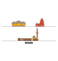 Niger flat landmarks niger vector