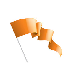 orange sticker on white background vector image