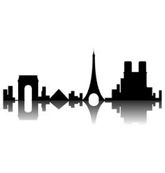 Paris cityscape silhouette vector