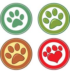 Paw print emblem vector