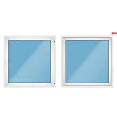 Pvc window with one sash vector