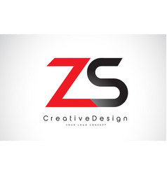red and black zs z s letter logo design creative vector image