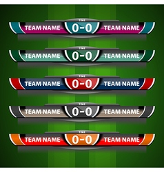 Scoreboard design object football vector