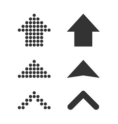set arrows icon business concept arrow dotted vector image