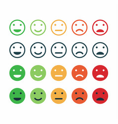 set of feedback icon rating satisfaction vector image