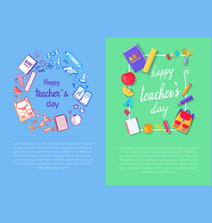 set of two pics teachers day vector image