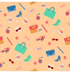 shopping spring sale seamless pattern vector image