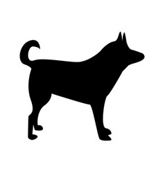 Silhouette of dog dog sign vector