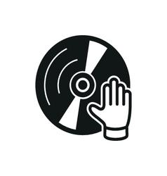 simple black dj icon on white background vector image